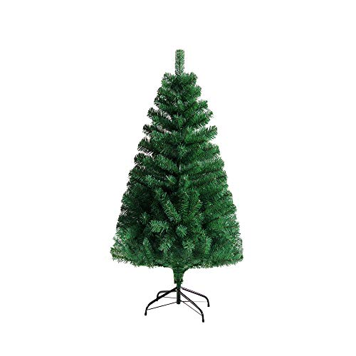ilauke künstlicher Weihnachtsbaum 1,2 M (Ø ca. 60 cm), 260 Zweige grüne Tannenbaum künstlich Christmas Tree Kunst Tannenbaum Plastik Tannenbaum kunstbaum Weihnachten Christbaum mit Metall Ständer