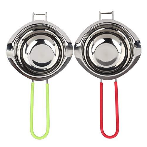 Smeltkroes met lange steel Kleine pan voor keukens voor chocolade(Green+red)