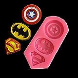 HoganeyVan Captain America Superman Batman Symbole Bricolage Gâteau Moule Moule À Bonbons Au Chocolat Cuisson Au Four