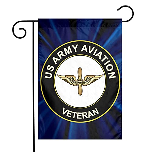 Us Army Veteran Aviation Garden Flags Yard Flags Double Sides Printed Flags 12'*18'