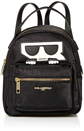 Karl Lagerfeld Paris Women's Amour Small Backpack, Black, One Size