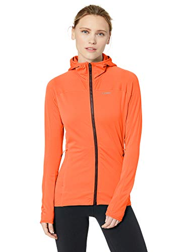 adidas outdoor Tracerocker Hooded Fleece, Damen, Fleecejacke, Tracerocker Hooded Fleece, Hi-res Coral, X-Large