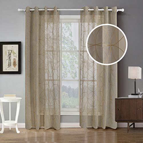 cortinas translucidas marron