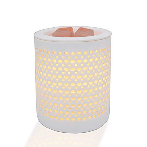 COKI Electric Candle Warmer with Dimmer Switch, Hollowed-Out Ceramic Wax & Tart burner with Night Light, Ideal for Spa and Aromatherapy, Aroma Decorative Lamp for Gifts & Décor (2020 upgraded version)