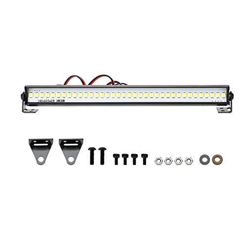 Dilwe Barra de Luces LED de luz de Techo Universal de 155 mm para 1/10 RC Crawler Car