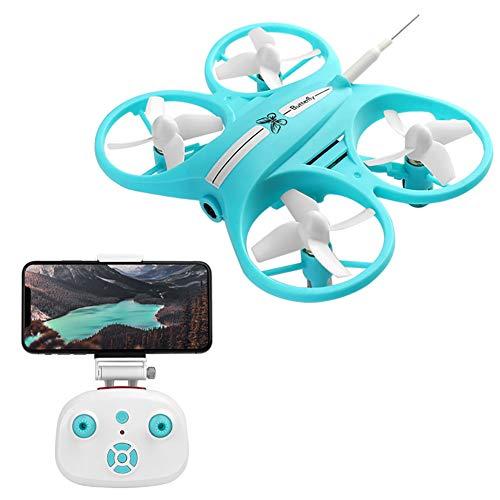 RC Drone avec Caméra HD FPV Télécommande Quadcopter Maintien D'altitude Headless Mode Hélicoptère pour Enfants Jouets,Bleu