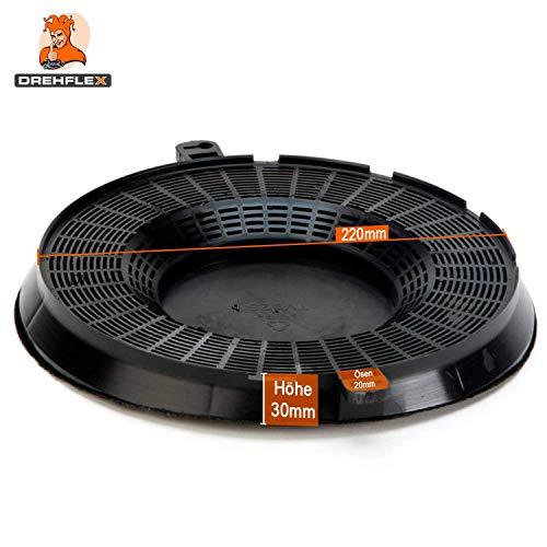 DREHFLEX® – Kohlefilter / Aktivkohlefilter – passend für Bauknecht / Whirlpool / Ikea – passend für 480122101262 // AMC037 AMC 037 - 4