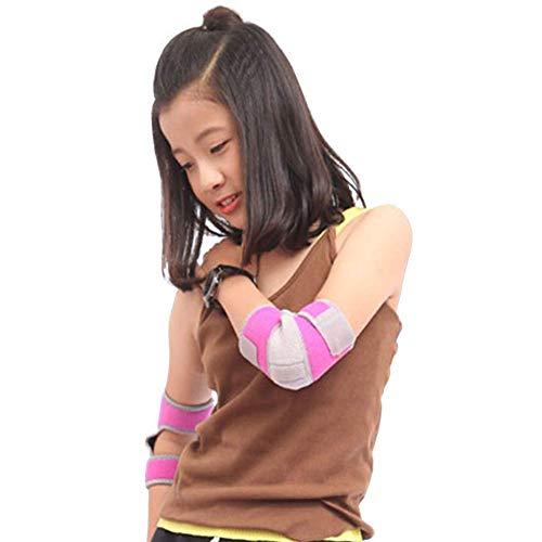 Gaocheng Kids Beschermende Gear Elleboog Pads met Verstelbare Pols Guards Elleboog Ondersteuning Peuter Kinderen Bescherming Veiligheid Elleboog Brace voor Rollerblading BMX Bike Fiets Skateboard Hoverboard