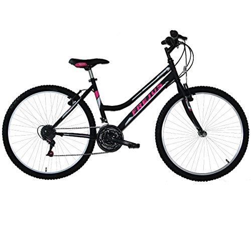 MASCIAGHI Bicicletta 26' Donna MTB FREJUS 18VEL Grip • Nero/Fuxia
