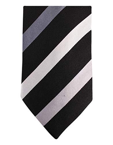 Knightsbridge Neckwear Black/Grey Kensington Diagonal Striped Silk cravate de