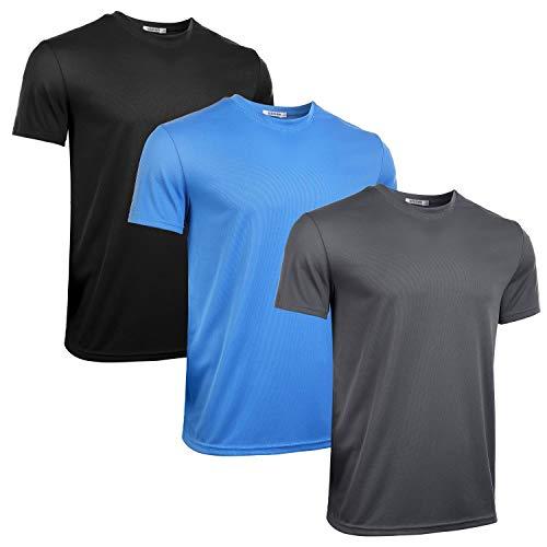 iClosam Paquete 3 Camisetas Deporte Hombre Fitness Casual Seco RáPido T-Shirt Running Yoga Ciclismo