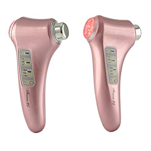Forever25 Ultraschallgeraet 3 MhZ mit ION-/+ und BIO Mikro-Strom-Behandlung und Ultraschall Schoenheitsgeraet