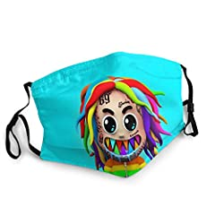 Protective 3D Print 6ix9ine Dustproof Face Cover For Indoor&Outdoor Material: 100% Polyester Feature: Dustproof And Waterproof, Breathable And Comfortable. Design: Wth Adjustable Elastic Ear Loops And M-Shaped Norse Clip, Free To Adjust. Nice 3D Prin...
