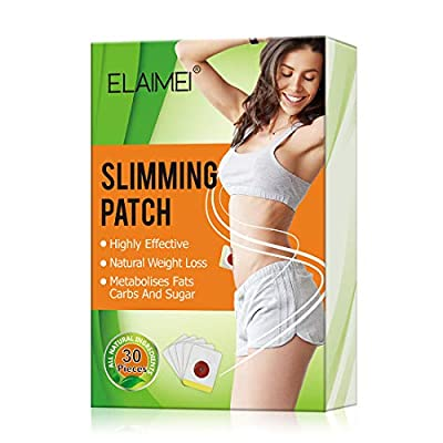 30Pcs Slimming Patch, Slimming Wonder Patch, Weight Loss Sticker, Slimming Tightening Sticker, Belly Fat Burner,Body Fat Burner for Beer Belly, Buckets