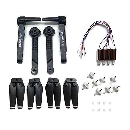 MZWNQ Pezzi di ricambio per E99 pro per motori RC Drone e99 Quadcopter braccio pieghevole eliche pale ingranaggio (colore : nero)
