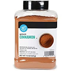 15-ounces of Happy Belly Ground Cinnamon Aromatic, with a sweet, deep, warm, delicate flavor. Fine ground so it blends effortlessly Pairs well with cumin, ginger, nutmeg, thyme, turmeric Used in sweet and savory dishes like cookies or cakes, french t...