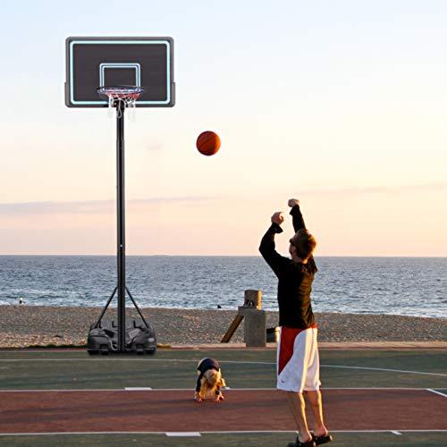 Canasta de baloncesto portátil para niños y adultos, con soporte triangular y base rellenable, altura ajustable de 2,3 a 3,5 m, para interiores y exteriores