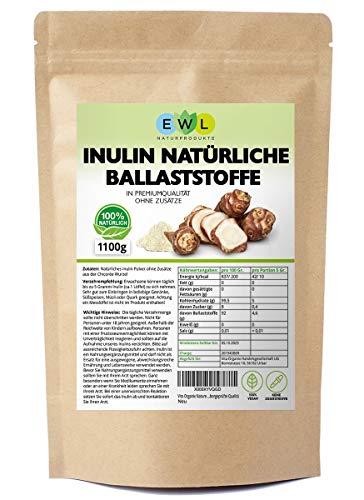 Inulin Probiotics Prebiotic Inuline poeder 1100 gram uit de Chicoree-wortel ballastpoeder Hoogwaardige laboratoriumgecontroleerde kwaliteit