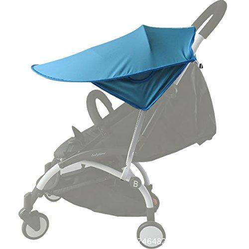 auvstar Baby Buggy Sun, Kinderwagen, Infant Kinderwagen Sonnensegel Baby Buggy schwarz Sun Shield, Sun Shield, Baby Buggy Autositz hat Ausgezeichneter UV-Schutz, sitable für Outdoor Reisen (Blau)
