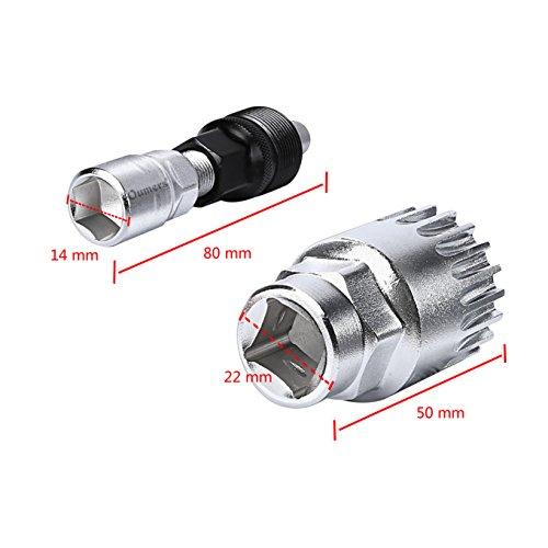 Oumers Fahrrad Crank Extractor/Arm-Entferner und Innenlager-Entferner mit 16mm Schraubenschlüssel. Professionelle Fahrrad Repair Tool Kit - 4