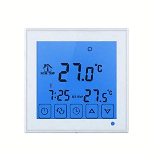 QiKun-Home Termostato Inteligente HY03WW-1 Controlador de Temperatura táctil inalámbrico Digital termostato de radiador de calefacción de Agua Blanco