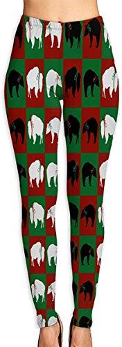 LVOE TTL Pantalons de Yoga Ours et Buffalo Fitness Pantalons de Yoga Power Flex Leggings