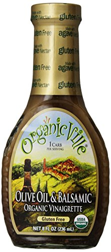 Organicville, Olive Oil and Balsamic Salad Dressing, 8 oz
