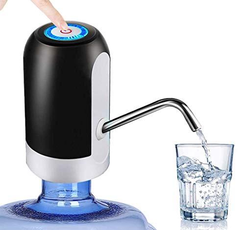 HDYC Wasserspender, automatischer Gallonen-Spender, Trinkwasserpumpe,tragbare Flasche, Flaschen-Wasserspender, Pumpsystem, Wasserversorgung für Zuhause, Büro und Outdoor weiß (Black)