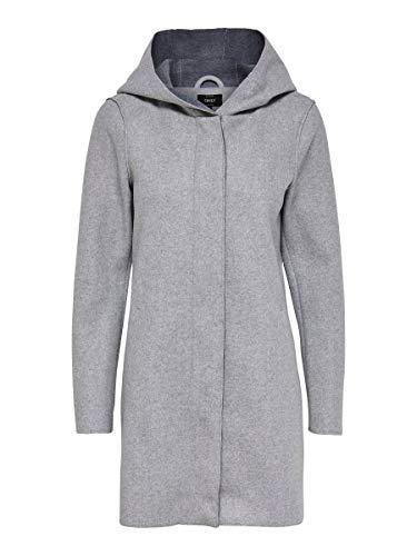 ONLY Female Mantel Kapuzen Llight Grey Melange