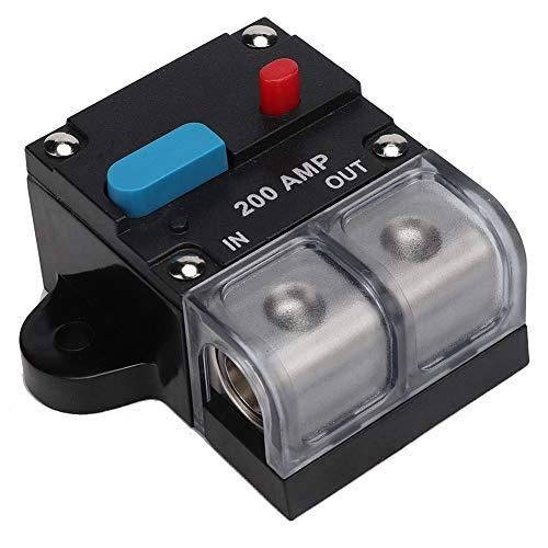 Nicoone Interruptor de Circuito 80A-300A Interruptor de Circuito Rearmable de Coche Autorecuperación Fusible Botón de Reinicio Manual (200A)