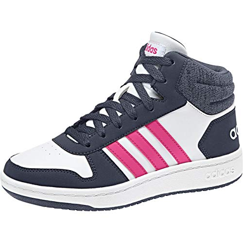 adidas Unisex-Kinder Hoops Mid 2.0 Basketballschuhe, Weiß (Ftwwht/Reamag/Trablu Ftwwht/Reamag/Trablu), 30 EU