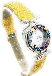 Reloj de mujer Antica Murrina Veneciana correa de piel reloj de cristal de Murano Murrina Negro