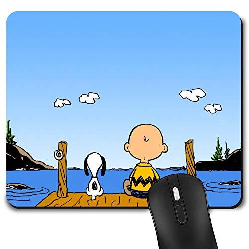 Alfombrilla de ratón para juegos Snoopy, alfombrilla de ratón para ordenador portátil y escritorio, bonita alfombrilla de ratón divertida para niños y regalo de oficina