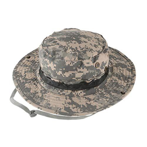 Yiqi Outdoor Armee Tarnung Runden Hut für Herren/Damen Fisherman Angeln Sonnenhut Freizeithut mit Runder Krempe (Style#3, One size)