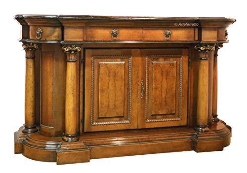 Klassische Anrichte Buffetschrank mit 2 Türen und 2 Schubladen. Geräumige Anrichte im klassischen Stil Made in Italy, handgemachtes Möbel aus Holz.