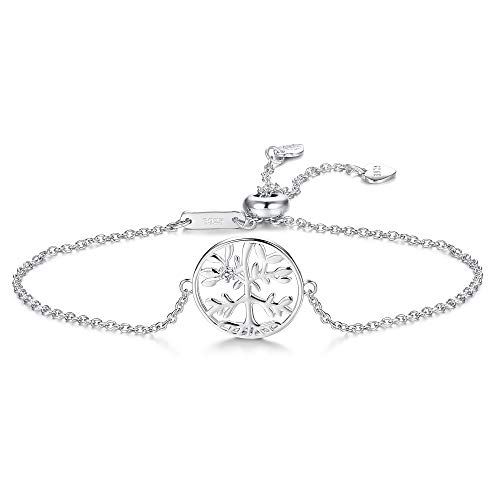 Besteel Tree of Life 925 Sterling Silver Bracelet for Women Girls Cubic...