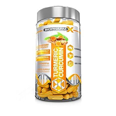 BioPharm-X 14,000MG Organic Turmeric Curcumin Capsules: 100% Pure Certified, Maximum Strength & Premium Grade (60 Capsules) from Biogen Health Science