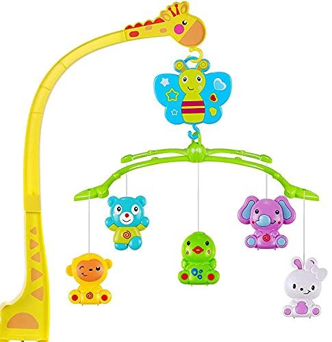 MOOKLIN ROAM Baby Mobile con Musica,Musicale per Culla per Bambini Culla Neonato per Neonati, Music Box Mobile con Musica Rilassante (Giraffa)