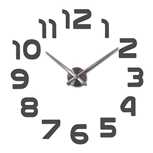 Aututer decoración del hogar, Sala de Estar, Espejo acrílico, Reloj de Pared de Moda, Reloj de Cuarzo, Reloj Grande, Aguja, Pegatina de bodegón