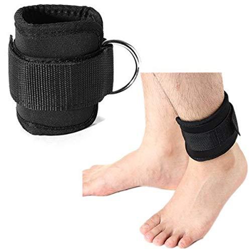 WINOMO 2pcs Ankle Strap para cinchas para Gym Ejercicio, Negro