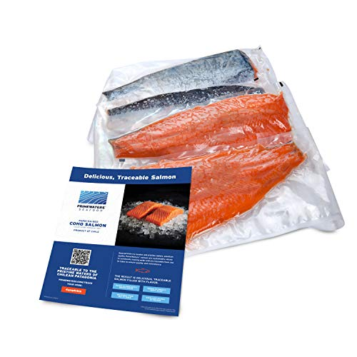 PrimeWaters Coho Salmon Fillets from Chile, 2-3 lbs., Frozen (Pack of 4)