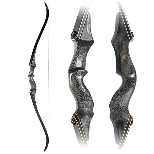 Takedown arco ricurvo e freccia tiro con l'arco set, 30-40 libbre tiro al bersaglio da caccia tradizionale con arco lungo all'aperto per principianti adulti mano sinistra e destra universale,40Lbs