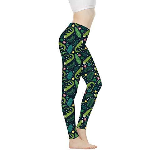 AGroupdream Yoga-Leggings für Damen, Teenager, Mädchen, Fitness, Jogging, Größe XS-3XL Gr. Large, iguana