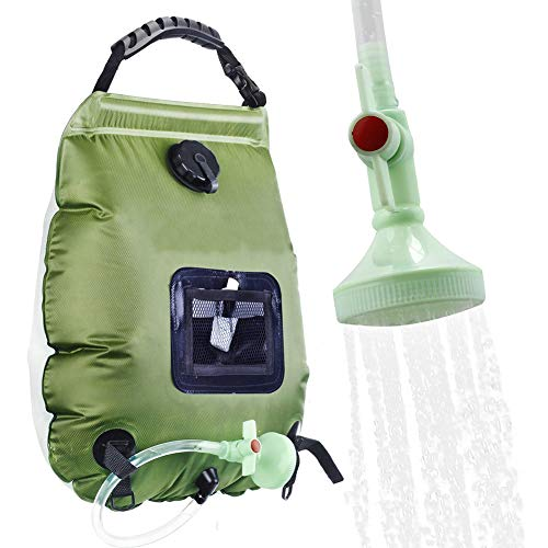 Water Tassen voor Outdoor Solar wandelen Camping Douche Bag 20L Verwarming Camping Douche Hydration Bag Hose Switchable douchekop