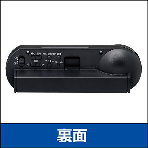 セイコークロック置き時計01:黒本体サイズ:5.1x14.4x4.2cm電波デジタル大音量PYXISピクシスRAIDENBC407K