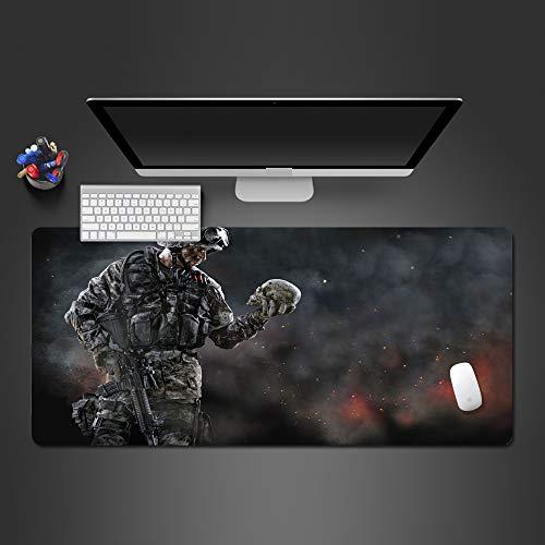 KTWMZ Alfombrilla De Ratón para Gaming Warframe -Oficina De Informática Mousepad para Ratón Grande con Diseño- Base De Mesa De Tamaño Grande - Mejora La Precisión Y Velocidad 80X30Cm