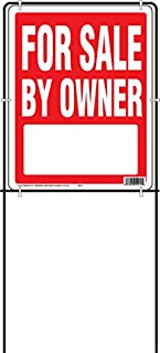 Hy-Ko Products SIY-211 for for Sale by Owner Sign w/Frame, 15x18, White/Red