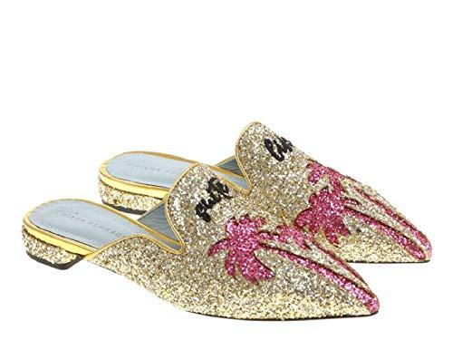 Chiara Ferragni Ciabatte Chiuse Brillantini Oro - Codice Modello: CF1842 Glitter Oro - Taglia: 36 EU