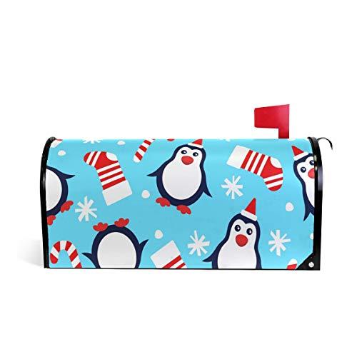 Weihnachtspinguine, Weihnachtsmütze, Weihnachtsmütze, magnetisch, Briefkasten-Abdeckung, Wraps, Socken, Zuckerstange, Schneeflocken, Standardgröße