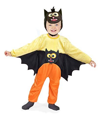 Ciao-Pipistrellino Costume Tutina Baby (Taglia 1-2 Anni), Colore Rosso,Nero, 28040.1-2